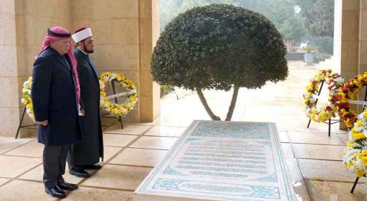 King Abdullah II visits late King Hussein tomb on 20th anniversary