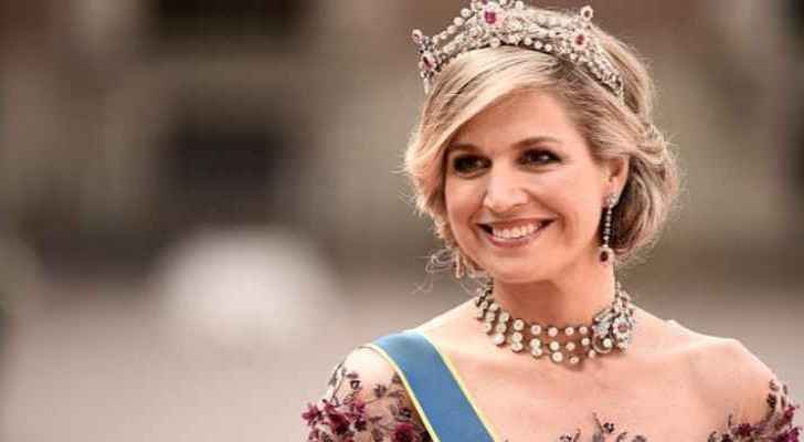 Queen Maxima of Netherlands arrives in Amman