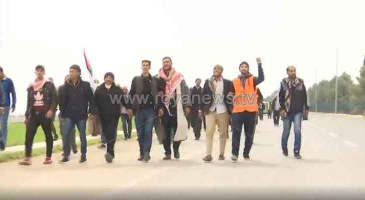 Job seekers march from Irbid and Aqaba to Amman