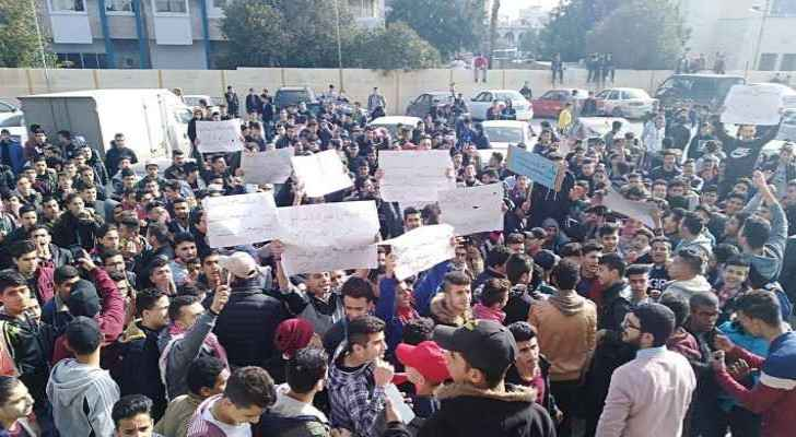 Tawjihi students protest against 'one session' examinations