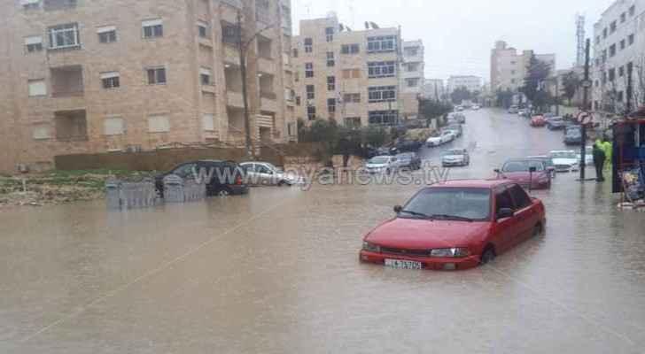 Rainwater raids homes in Madaba and Ajloun