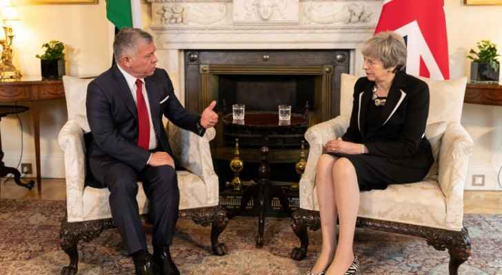 King, British PM agree to continue advancing Jordan-UK cooperation