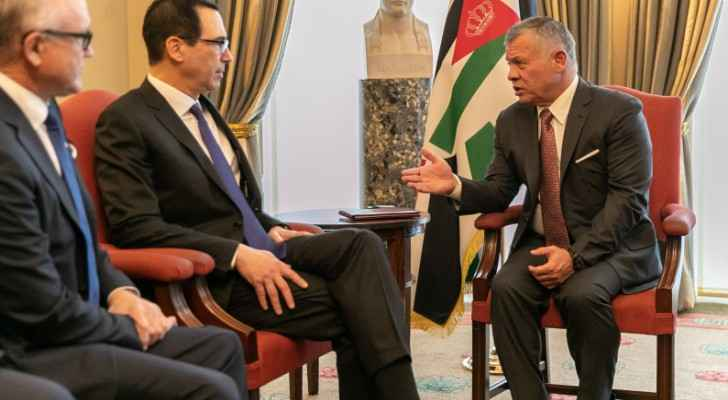 King meets US treasury secretary in London