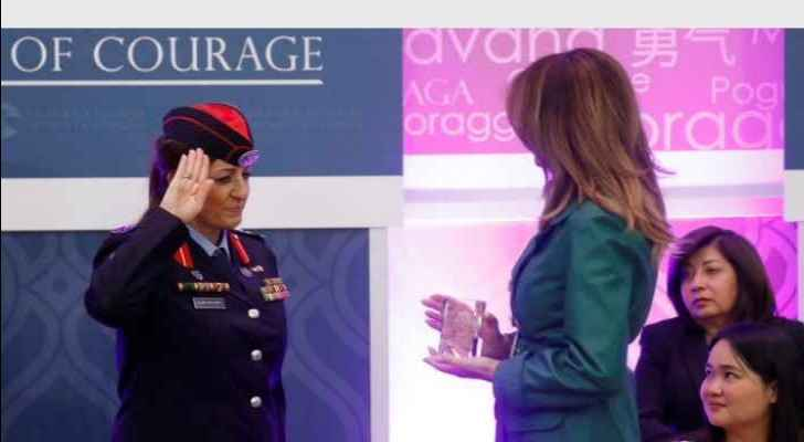 Jordanian policewoman awarded 'Women of Courage' of 2019