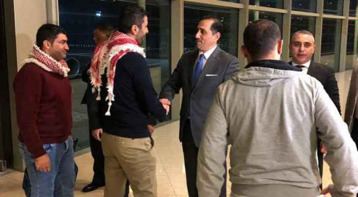 Three arrested Jordanians in Iran arrive in Amman