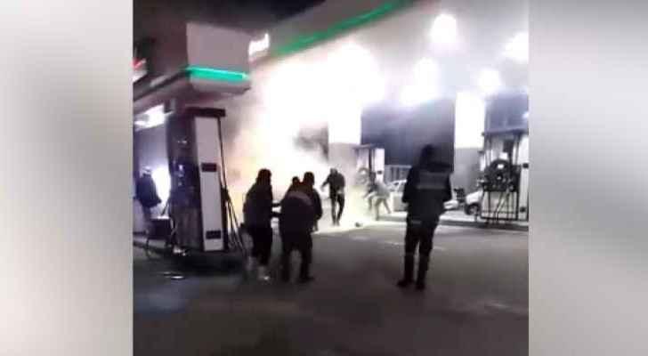 Video: Car fire  in Amman