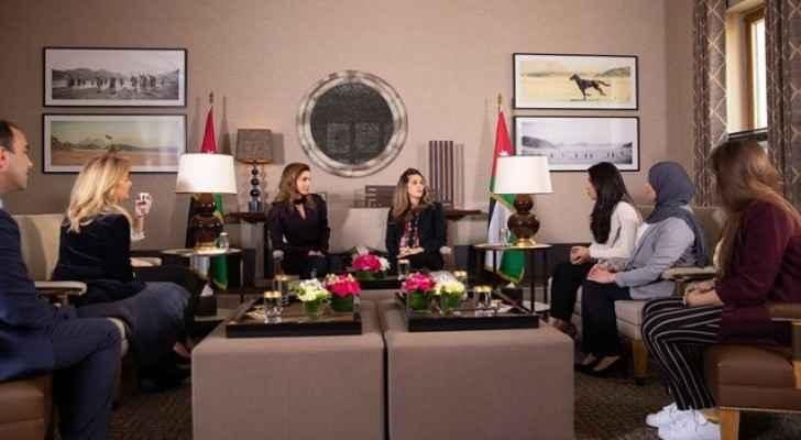 Queen Rania Meets with Winners of Queen Rania Award for Education Entrepreneurship