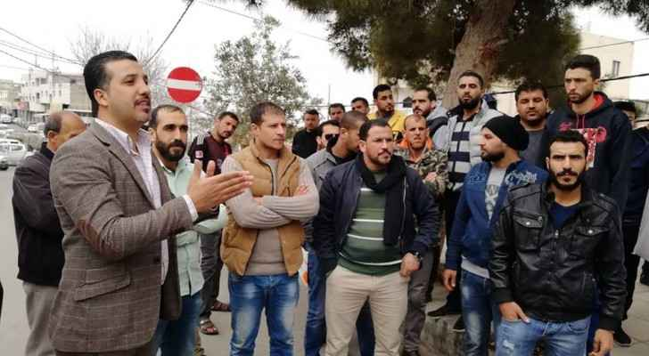 Tens of unemployed youth protest in Tafilah
