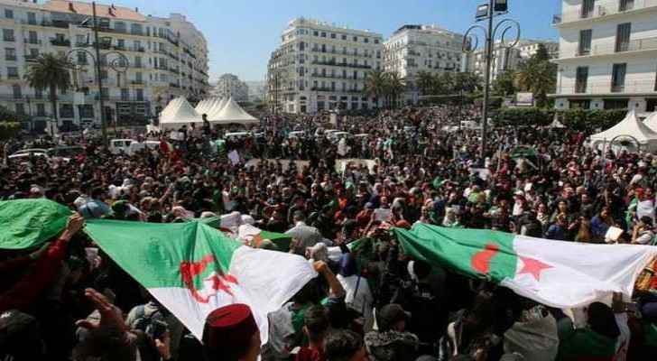 Hundreds of thousands protest in Algeria against Bouteflika's election delay