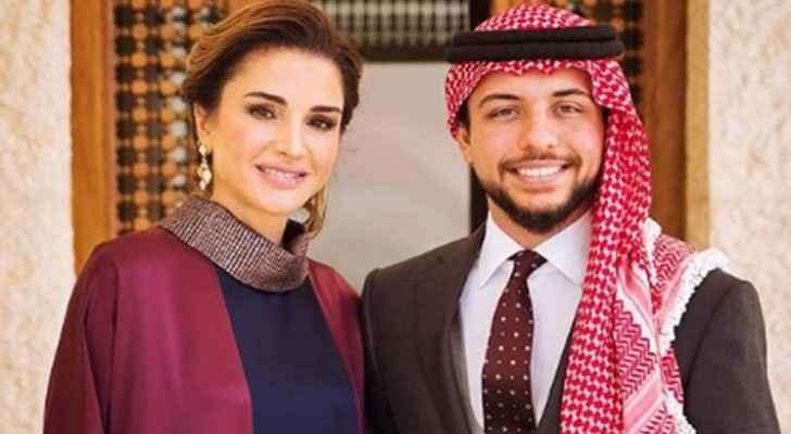 Crown Prince congratulates Queen Rania, Jordanian mothers on Mother's Day