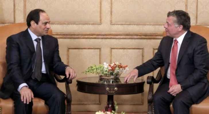 King Abdullah meets President Sisi, discuss various issues