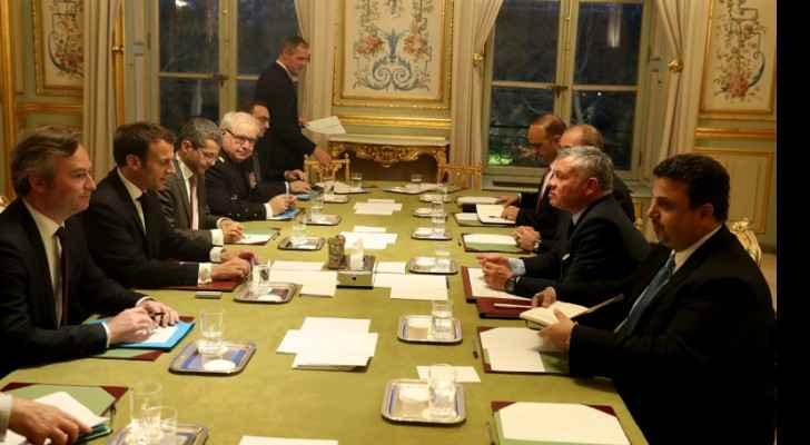 King, French president discuss Palestinian cause, Jerusalem