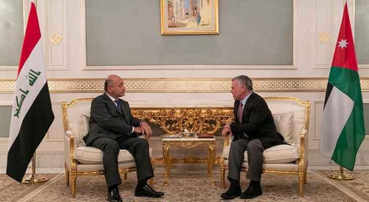 King meets Iraqi president in Tunis