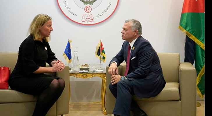King meets EU high representative for foreign affairs and security policy in Tunis