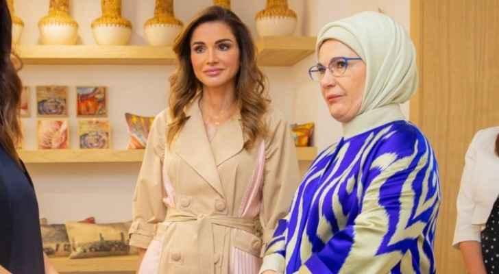 Photos: Queen Rania meets with Turkish First Lady Emine Erdoğan in Amman