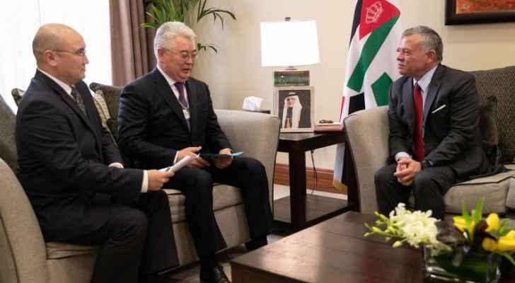King meets Kazakhstan Foreign Minister