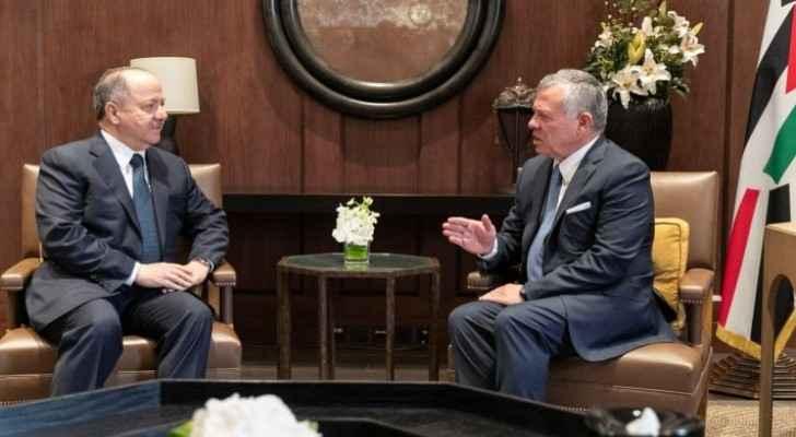 King receives former president of Iraqi Kurdistan