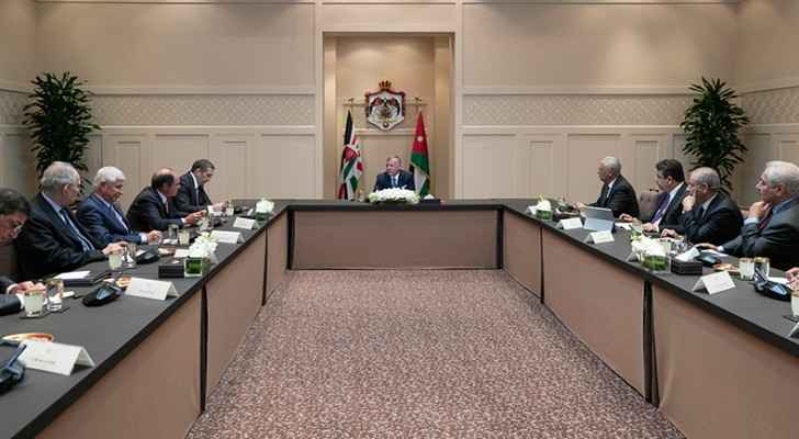 King meets political, media figures, says Jordanians unshaken by attempts