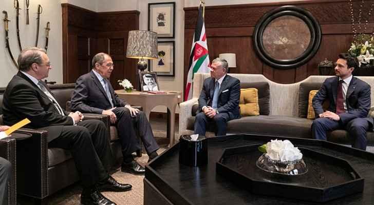 King receives Russian FM Lavrov