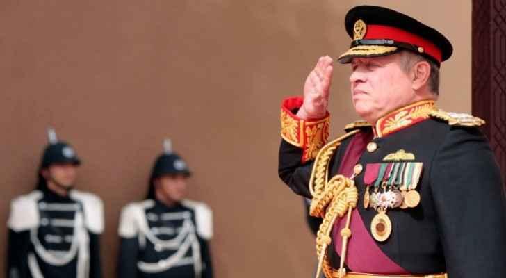 King visits General Command of JAF