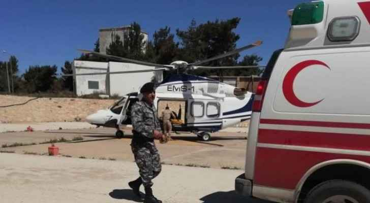 Gendarmerie responds to call by citizen to provide air ambulance to son in Karak