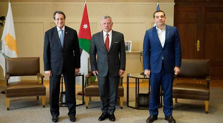 At Trilateral Summit, Jordan, Cyprus and Greece agree to expand cooperation in vital fields