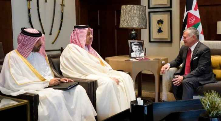 King receives Deputy PM of Qatar