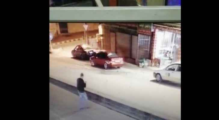 Video: Man saved from certain death while crossing street, playing with phone in Jerash