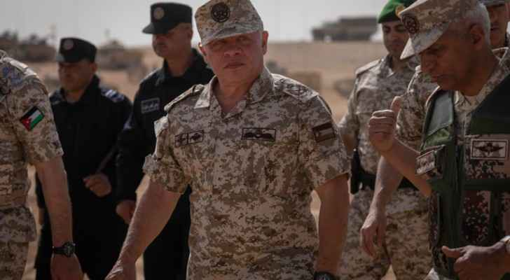 King attends tactical military exercise