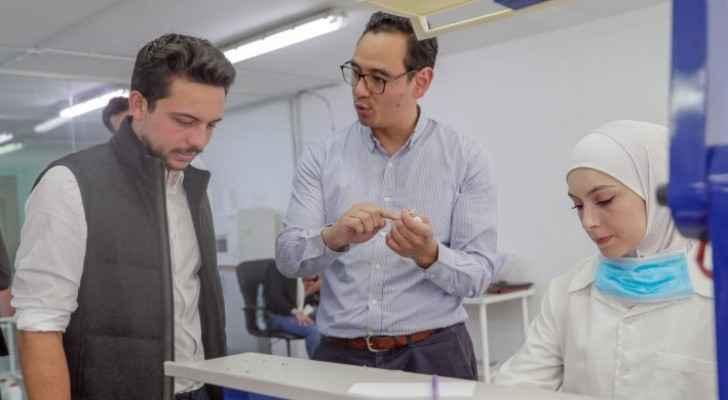 Crown Prince visits leading Jordanian start-up on Labor Day