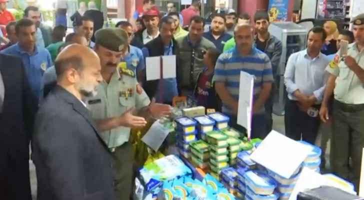 PM Razzaz checks on readiness of Civil Service Consumer Corporation in Ras al-Ain for Ramadan