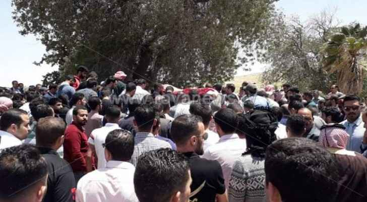 Tens of Jordanians participate in funeral of  young man killed in Shafa Badran area