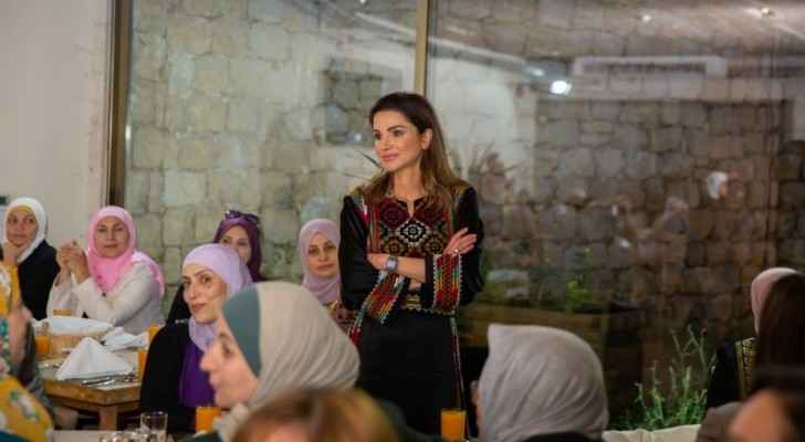 Photos: Queen Rania hosts iftar banquet for women in Ajloun