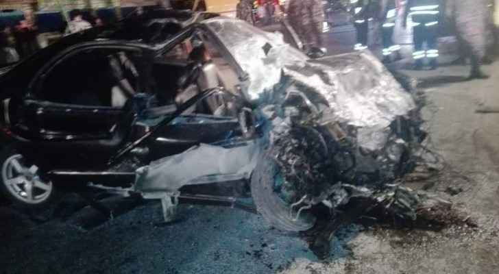 Photos: 3 dead, 3 injured in road accident in Mafraq