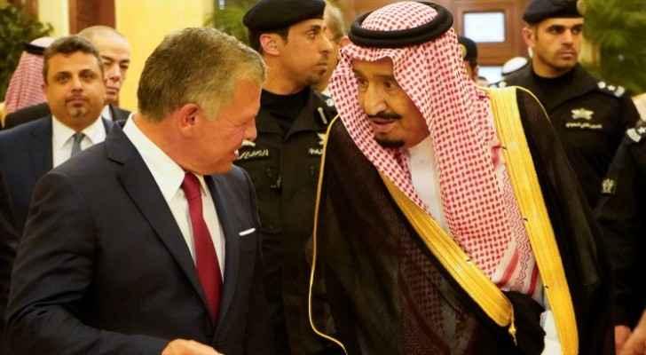 King Abdullah II and King Salman bin Abdulaziz