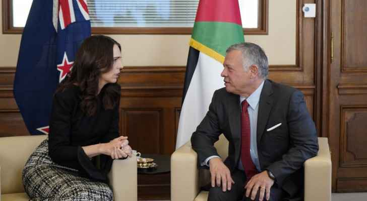 King meets New Zealand PM