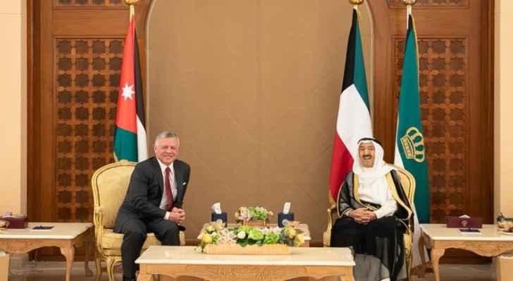 King, Kuwaiti emir reaffirm strong Jordan-Kuwait ties