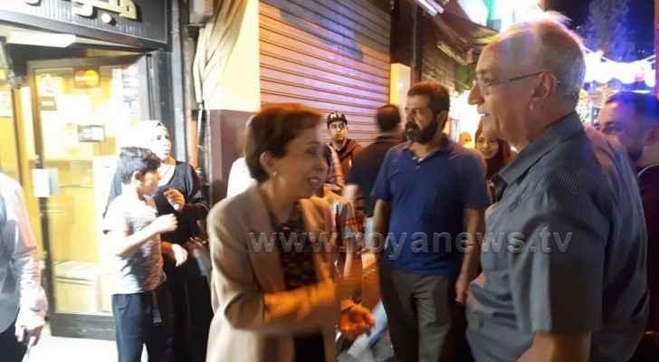 Roya cameras capture photos of HRH Princess Basma Bint Talal at Downtown