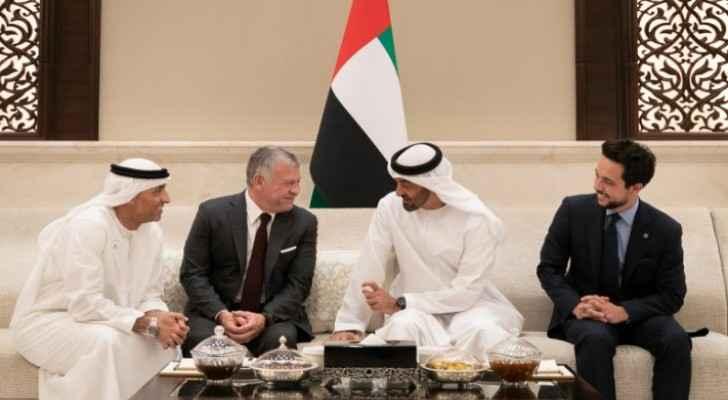 King, Abu Dhabi Crown Prince reaffirm strong Jordan-UAE ties