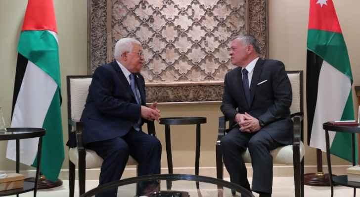 King receives Palestinian President