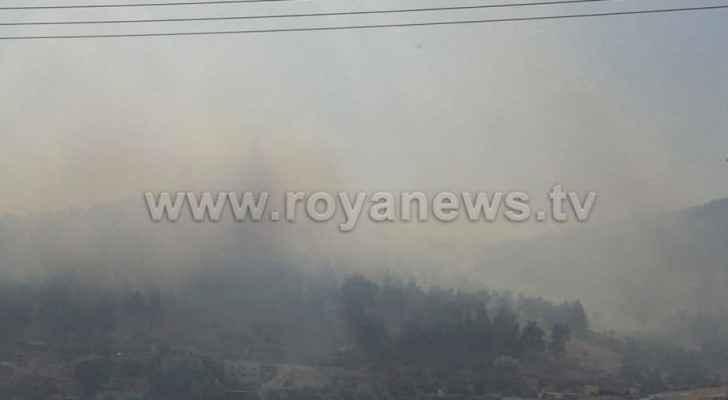 Major fire breaks out on Amman-Irbid highway