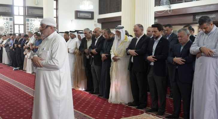 King, Crown Prince perform Eid Al Fitr prayer at Al Sharif Al Hussein bin Ali mosque