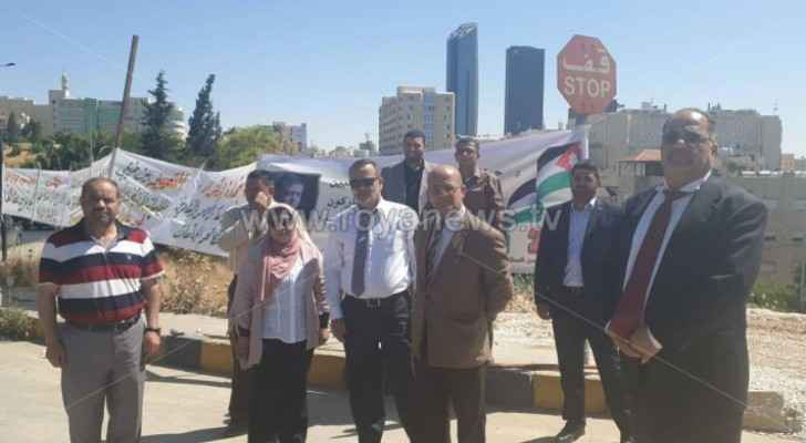 Group of PhD holders protest in front of Prime Ministry building