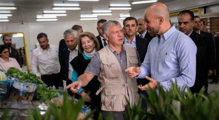 Photos: King inaugurates pioneering agricultural project in Mafraq