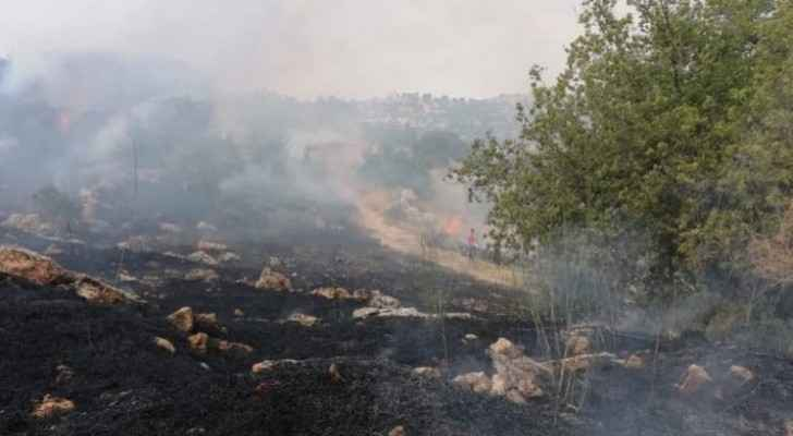 Dry grass fire breaks out in Ajloun