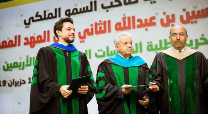 Crown Prince attends graduation ceremony of post-graduate students at Yarmouk University