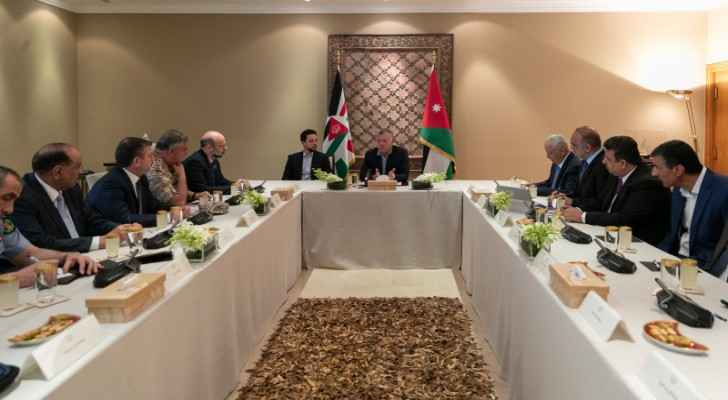 King chairs NPC meeting, affirms steadfast position on Palestinian cause