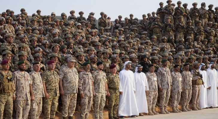 King attends joint military exercise in UAE