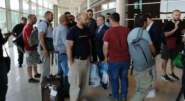 The Jordanian engineers upon their return to Jordan
