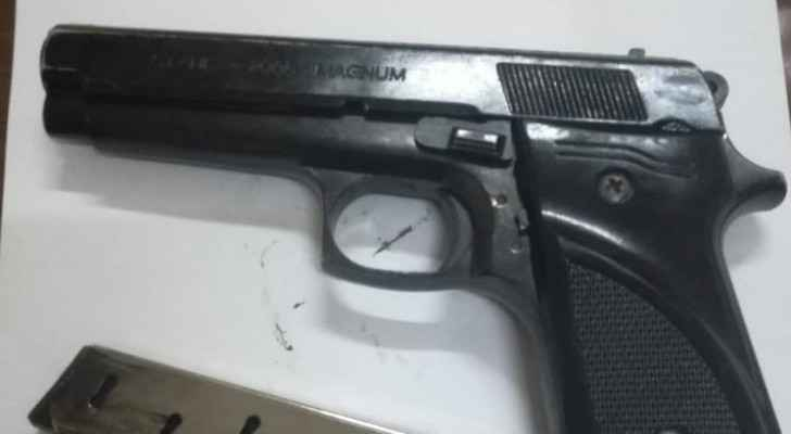 One of the seized firearms